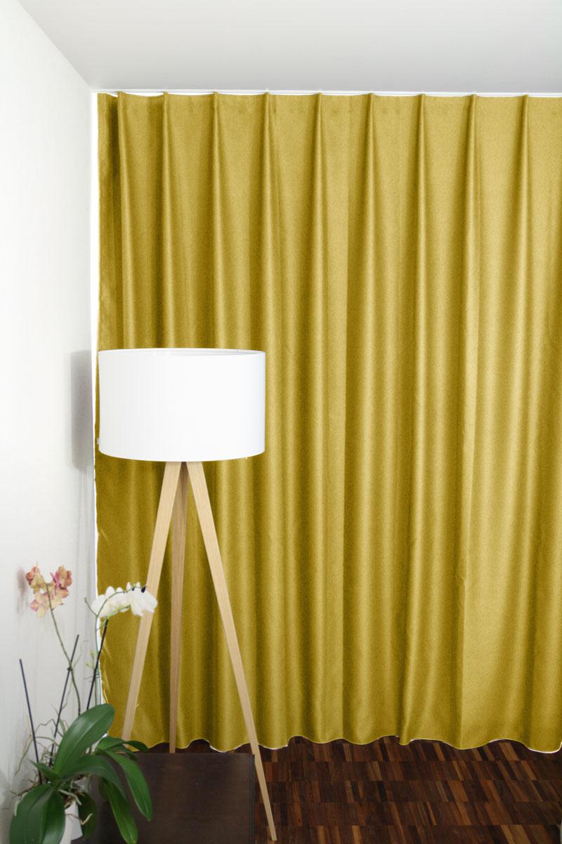 vorhang gelb. Black Bedroom Furniture Sets. Home Design Ideas
