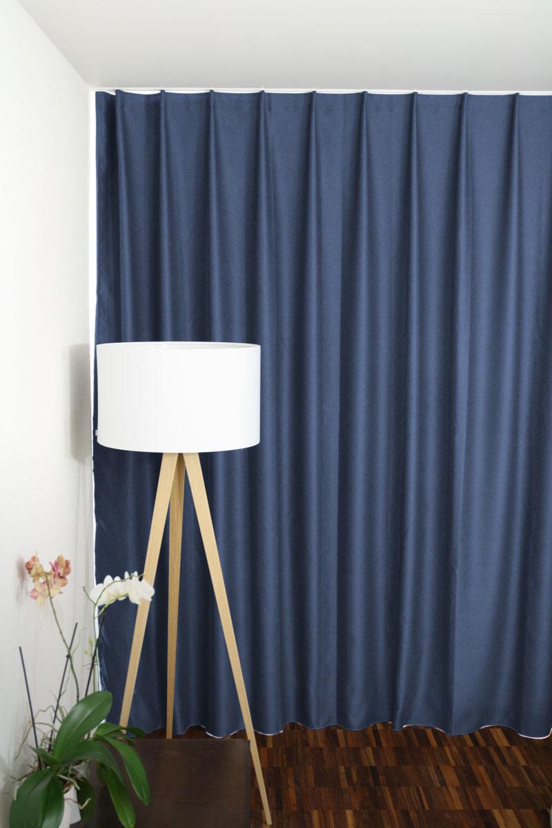 Superb Schlafzimmer Vorhange Schweiz #4: Nachtvorhang Taubenblau Auf Mass / Massvorhang (Hotelvorhang, Blackout- Vorhang)