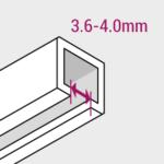 Vorhanggleiter Swiss Mini Schiene
