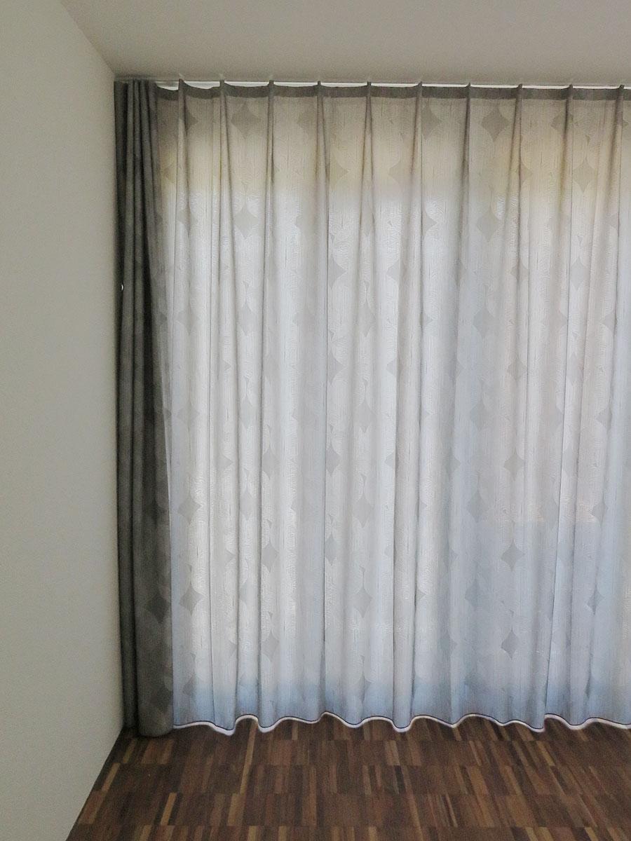 dekovorhang kiruna grau muster. Black Bedroom Furniture Sets. Home Design Ideas