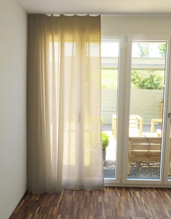 tagvorhang palermo leinenoptik weiss cremeweiss braun grau schwarz. Black Bedroom Furniture Sets. Home Design Ideas
