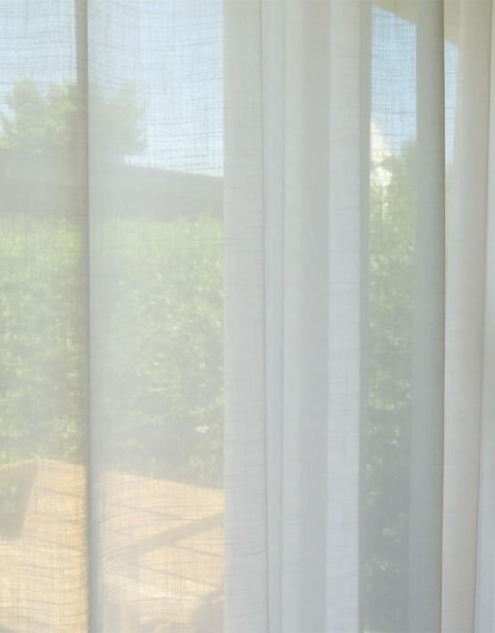tagvorhang palermo leinenoptik weiss gelb beige braun. Black Bedroom Furniture Sets. Home Design Ideas