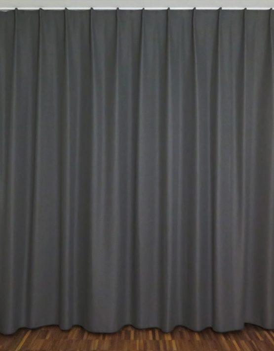 Nachtvorhang luzern grau anthrazit uni for Nachtvorhang kinderzimmer