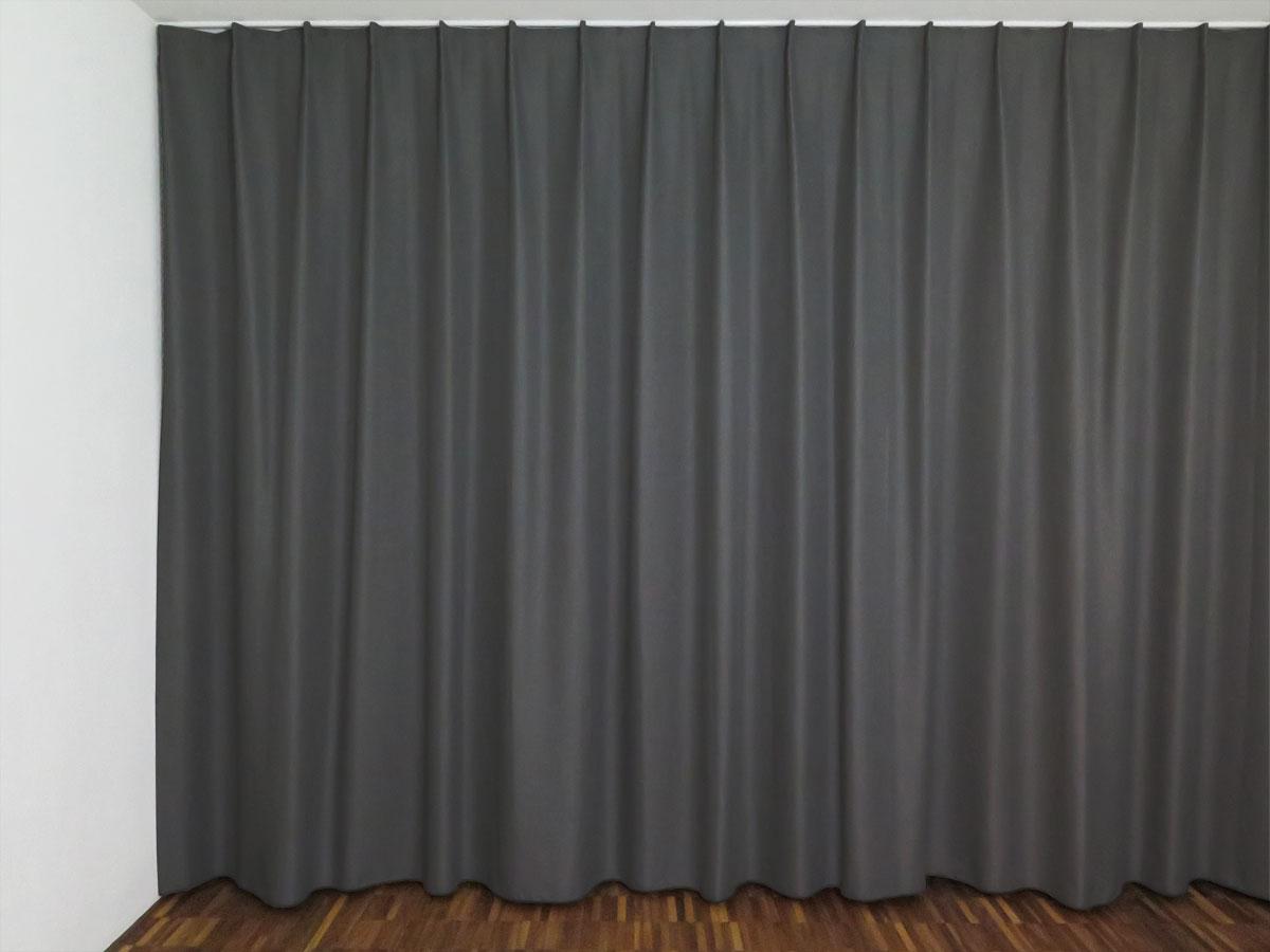 Nachtvorhang LUZERN [anthrazit, uni] | vorhangbox.ch