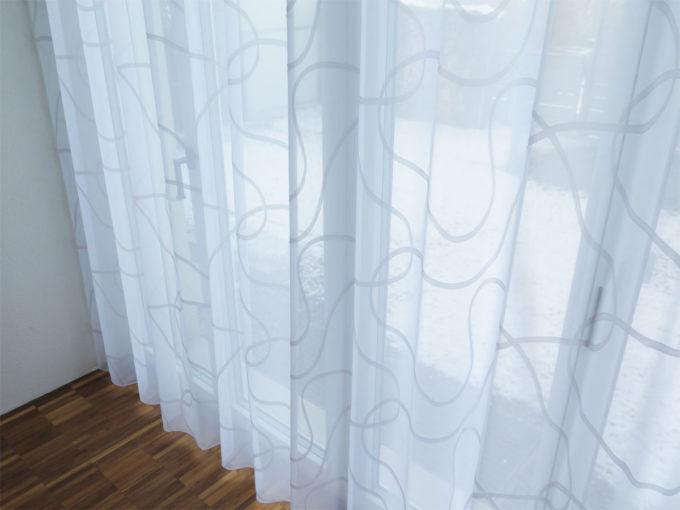Tagesvorhang sidney kurvenmuster weiss weiss weiss for Innendekorateur beratung