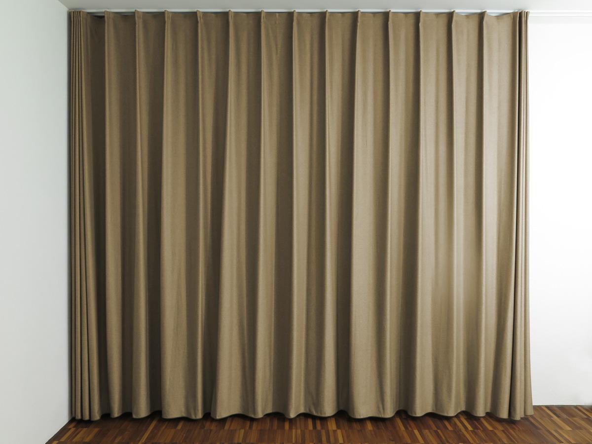 Fensterfront: Nachtvorhang SINGAPUR Braun Für Schlafzimmer / Wohnzimmer