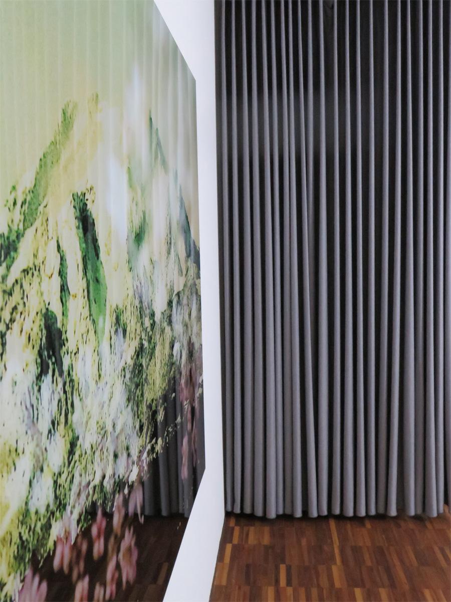 Nachtvorhang SINGAPUR [Seidenfein. Beige, Braun, Grau, Schwarz] »  Vorhangbox.ch