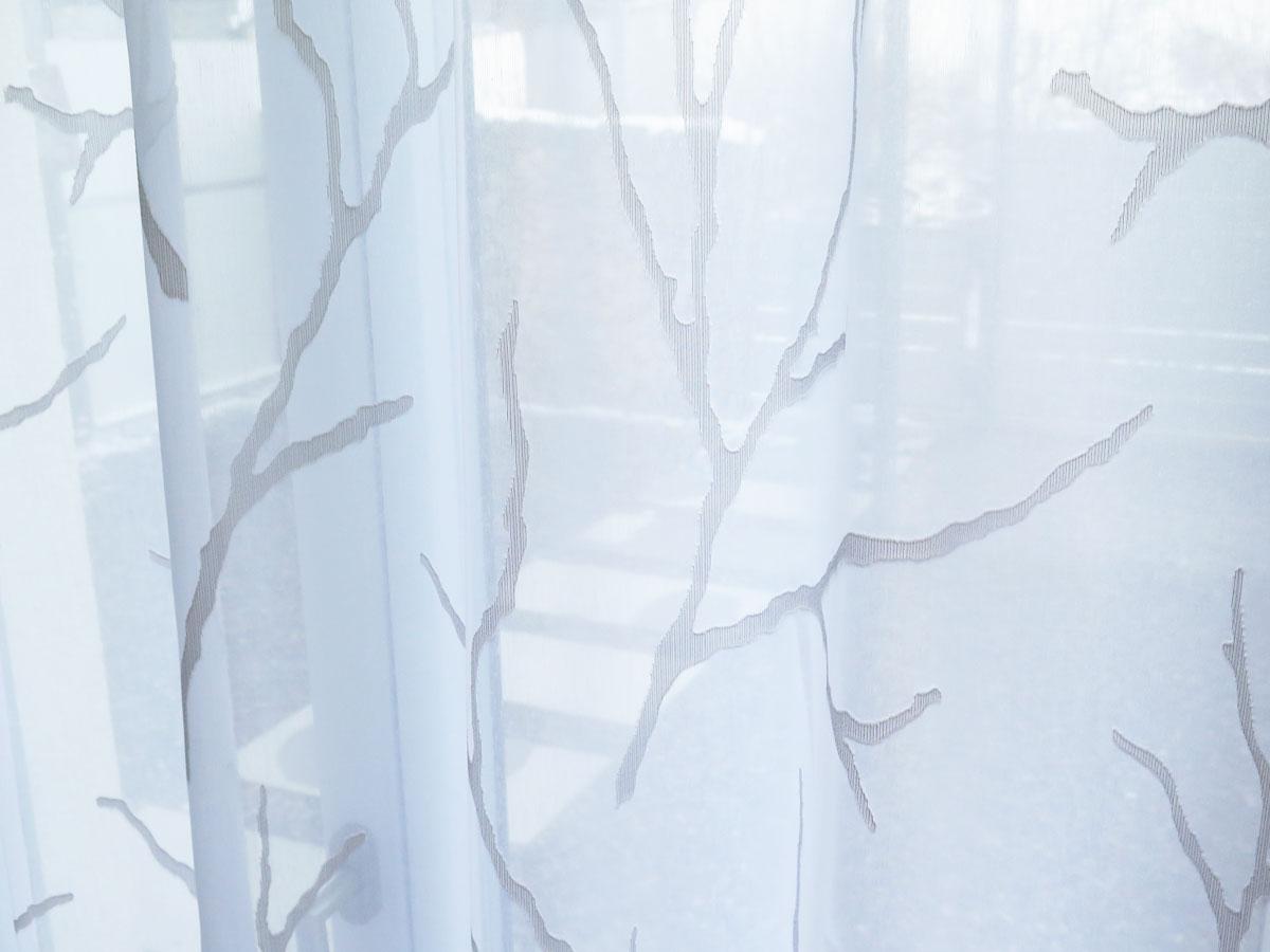 tagvorhang oslo ste zweige baum weiss weiss und weiss beige. Black Bedroom Furniture Sets. Home Design Ideas