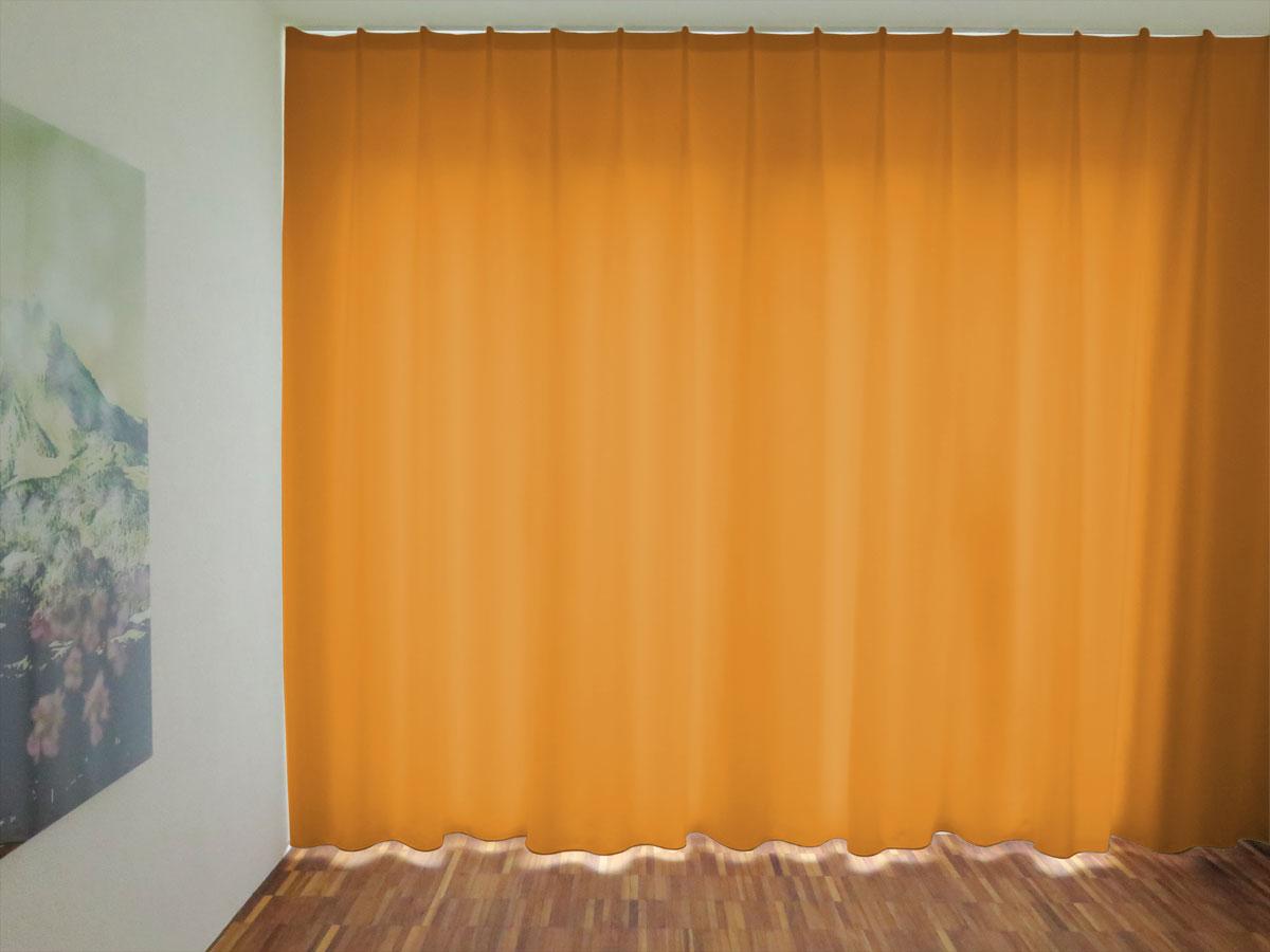 Schlafzimmer einrichten: Nachtvorhang LUGANO orange, blickdicht ...
