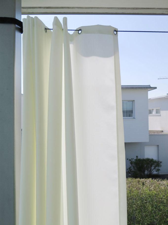 Outdoor Vorhang Santorini Nach Mass Weiss Vorhangboxch
