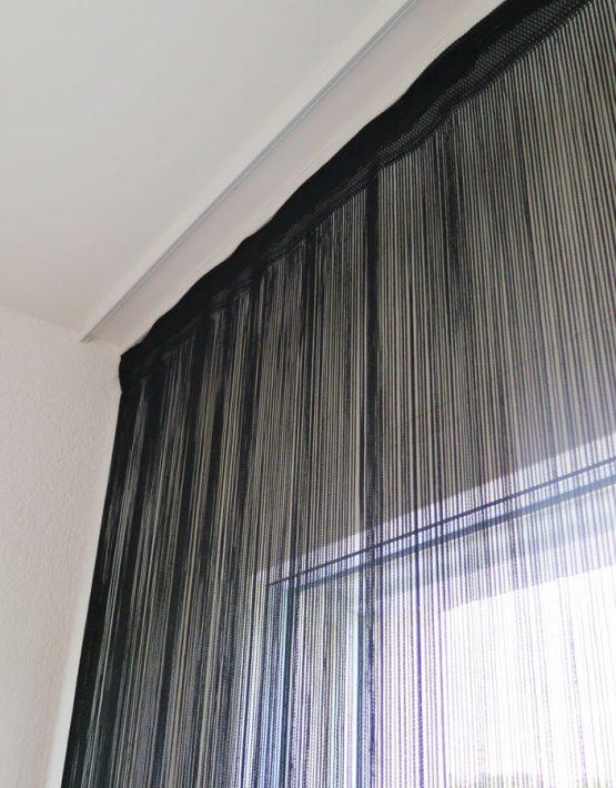fadenvorhang garda schwarz t rvorhang fliegenvorhang. Black Bedroom Furniture Sets. Home Design Ideas