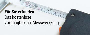 vorhangbox-Massband zum richtig messen