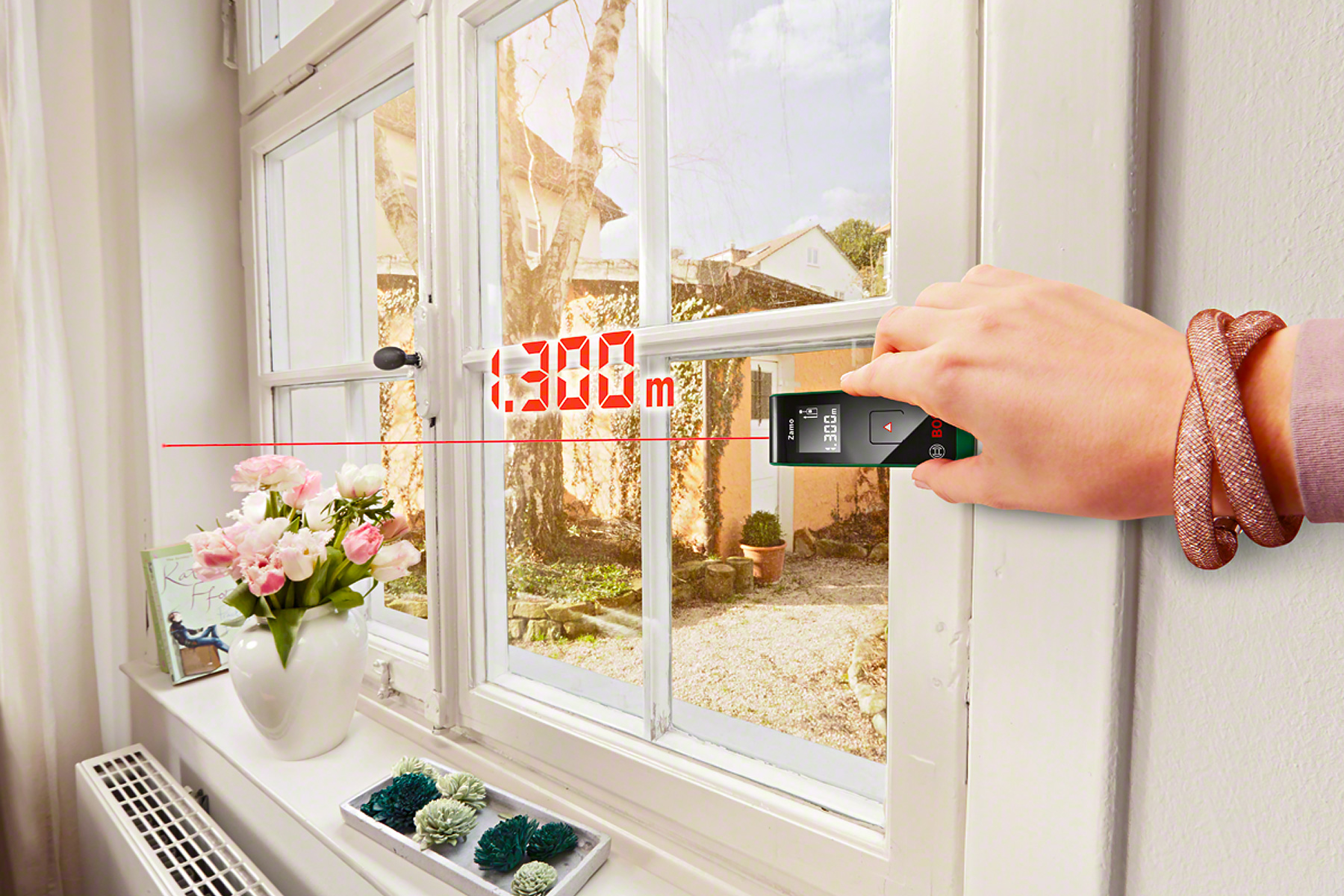 Bosch Laser Entfernungsmesser Grün Oder Blau : Laser entfernungsmesser zamo von bosch vorhangbox