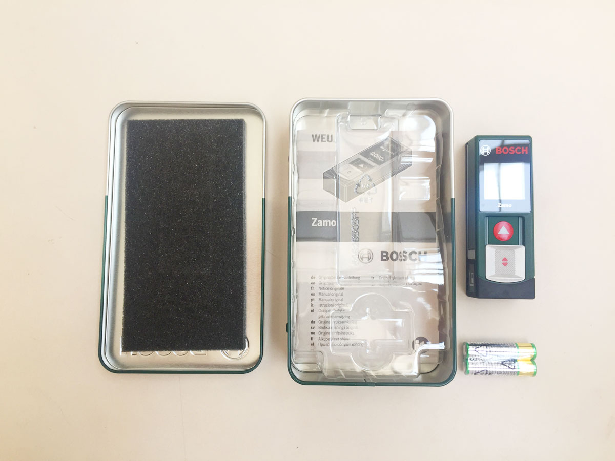 Laser Entfernungsmesser Bosch Zamo Ii : Laser entfernungsmesser zamo von bosch in praktischer blech box