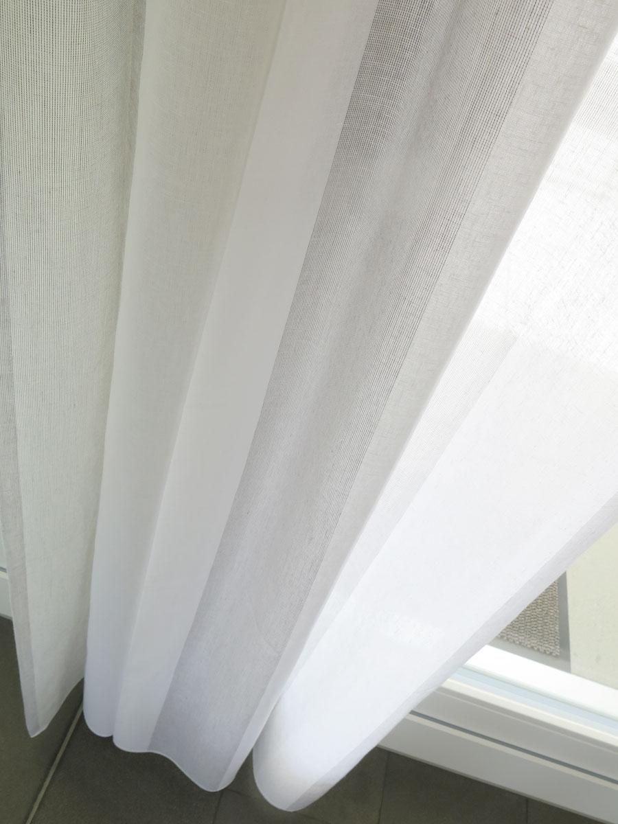 tagesvorhang rimini breite streifen weiss beige grau. Black Bedroom Furniture Sets. Home Design Ideas