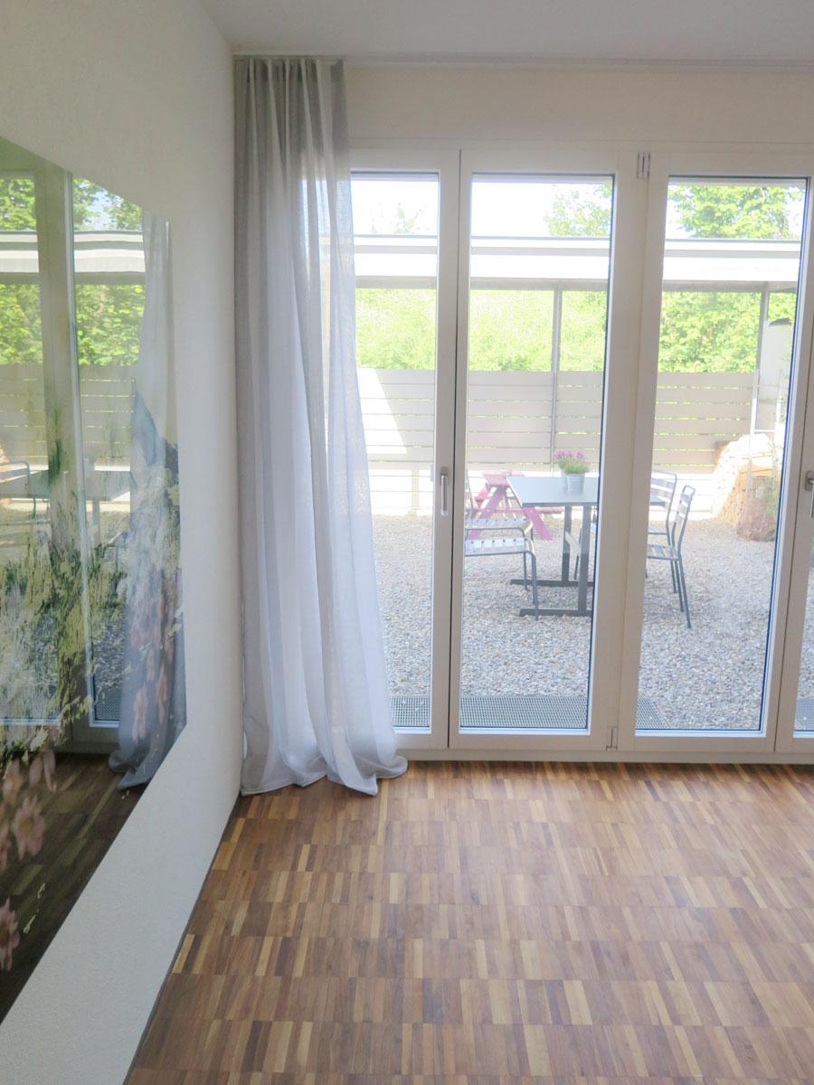 tagesvorhang rimini [breite streifen weiss-beige, grau ... - Wohnzimmer Mit Streifen Schwarz Wei Grau
