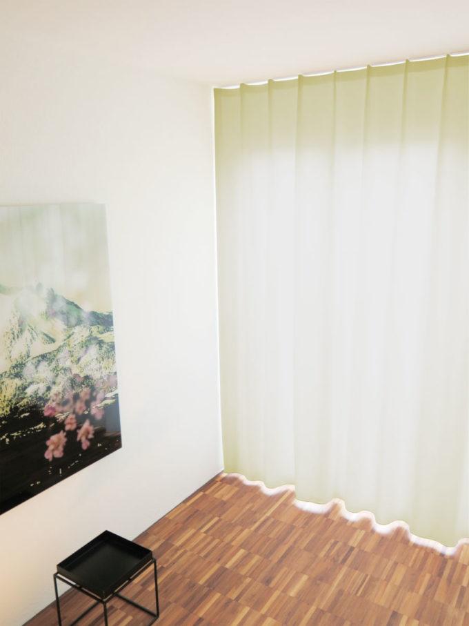 Vorhang Blickdicht Lichtdurchlässig nachtvorhang zug feinster stoff weiss cremeweiss chagner