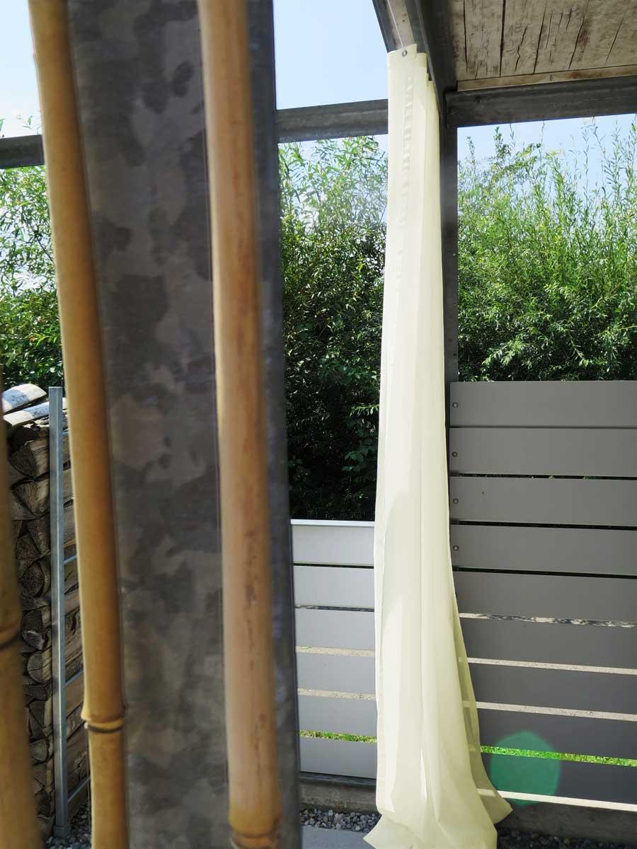 Outdoor vorhang sonnen tag transparent christian for Tipps zur gartengestaltung