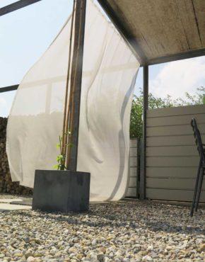 aufh ngesystem f r outdoor vorh nge. Black Bedroom Furniture Sets. Home Design Ideas