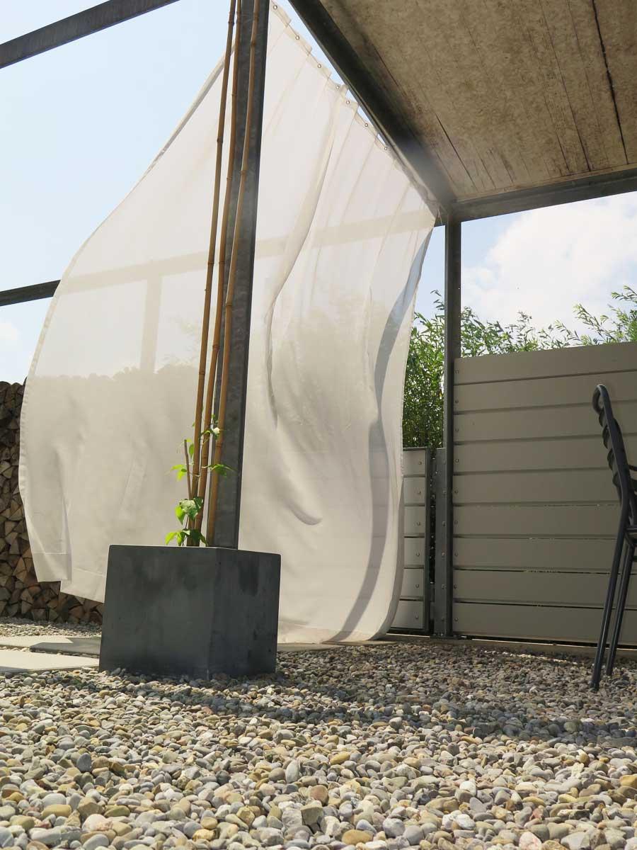 Outdoor Vorhang Sonnen Tag Transparent Christian Fischbacher Vorhangbox Ch