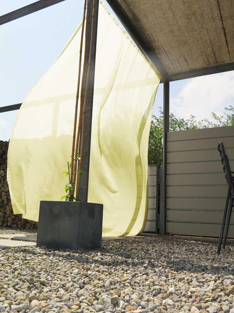 outdoor vorhang sonnen tag transparent christian fischbacher. Black Bedroom Furniture Sets. Home Design Ideas
