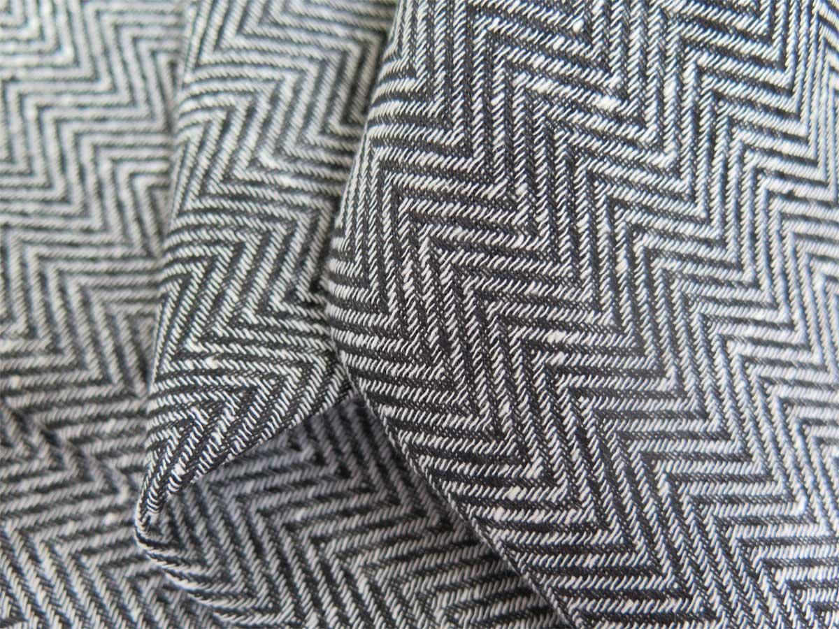 stoffmuster tagesvorhang milano [fischgrätmuster, beige, schwarz