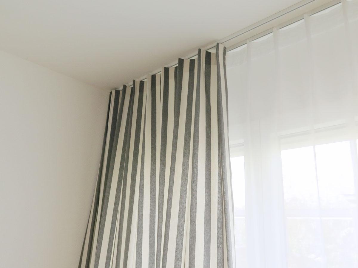 nachtvorhang catania [maritime längsstreifen (2cm), baumwolle, Schlafzimmer entwurf