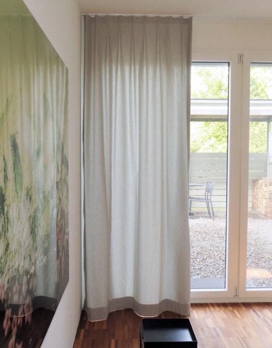 Nachtvorhang NIZZA [dünne, maritime Längsstreifen (2mm), Baumwolle] - vorhangbox.ch