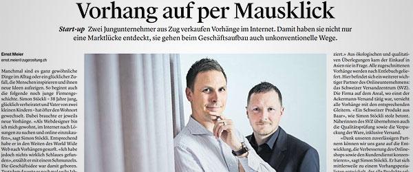 Luzerner Zeitung: Vorhang auf per Mausklick.