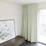 Blackout-Vorhang ABLION grauweiss zum Schlafzimmer komplett abdunkeln.