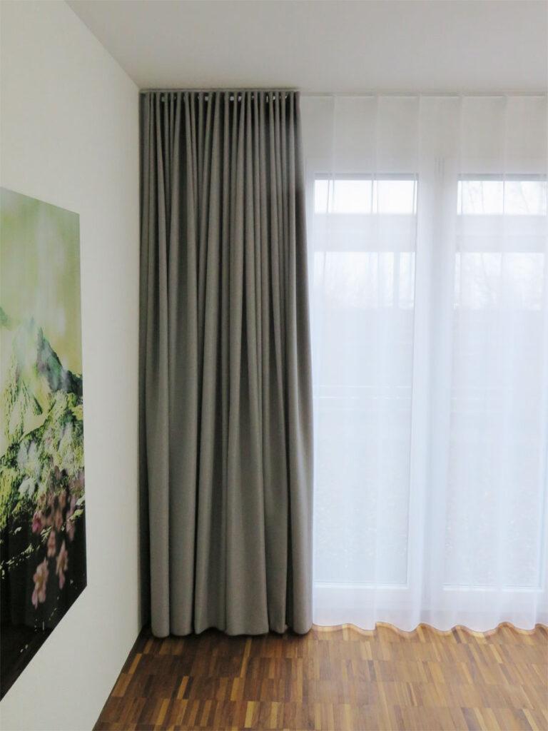 vorh nge grau. Black Bedroom Furniture Sets. Home Design Ideas