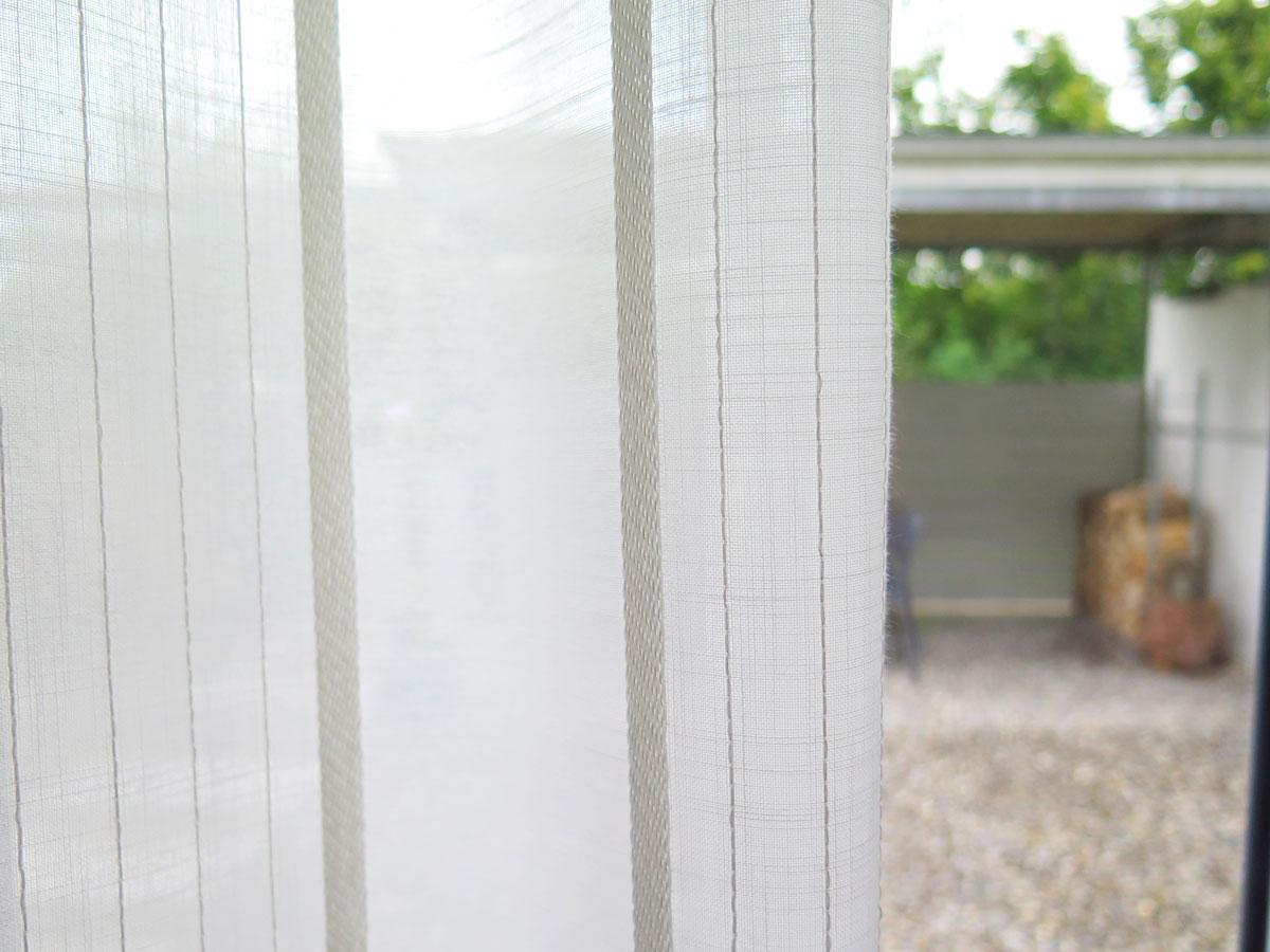 Schwerer Vorhang tagesvorhang modena längsstreifen ecruweiss vorhangbox ch