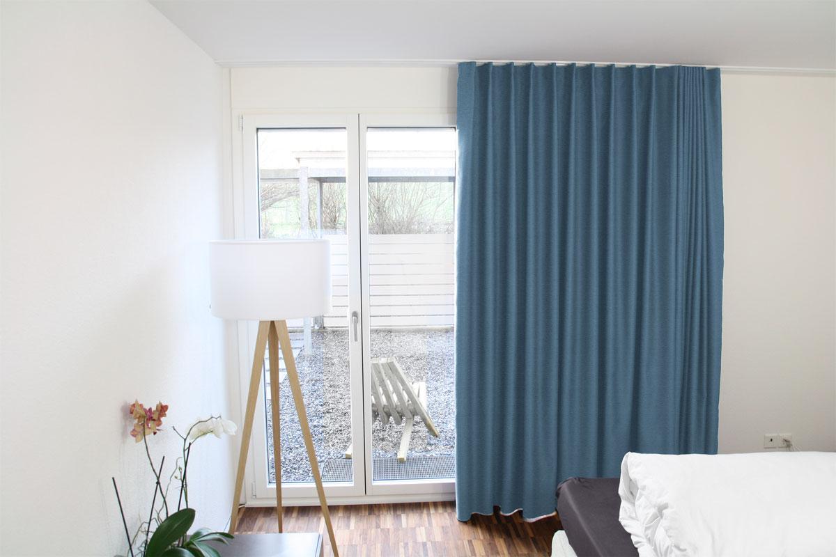 verdunklungsvorhang blau. Black Bedroom Furniture Sets. Home Design Ideas