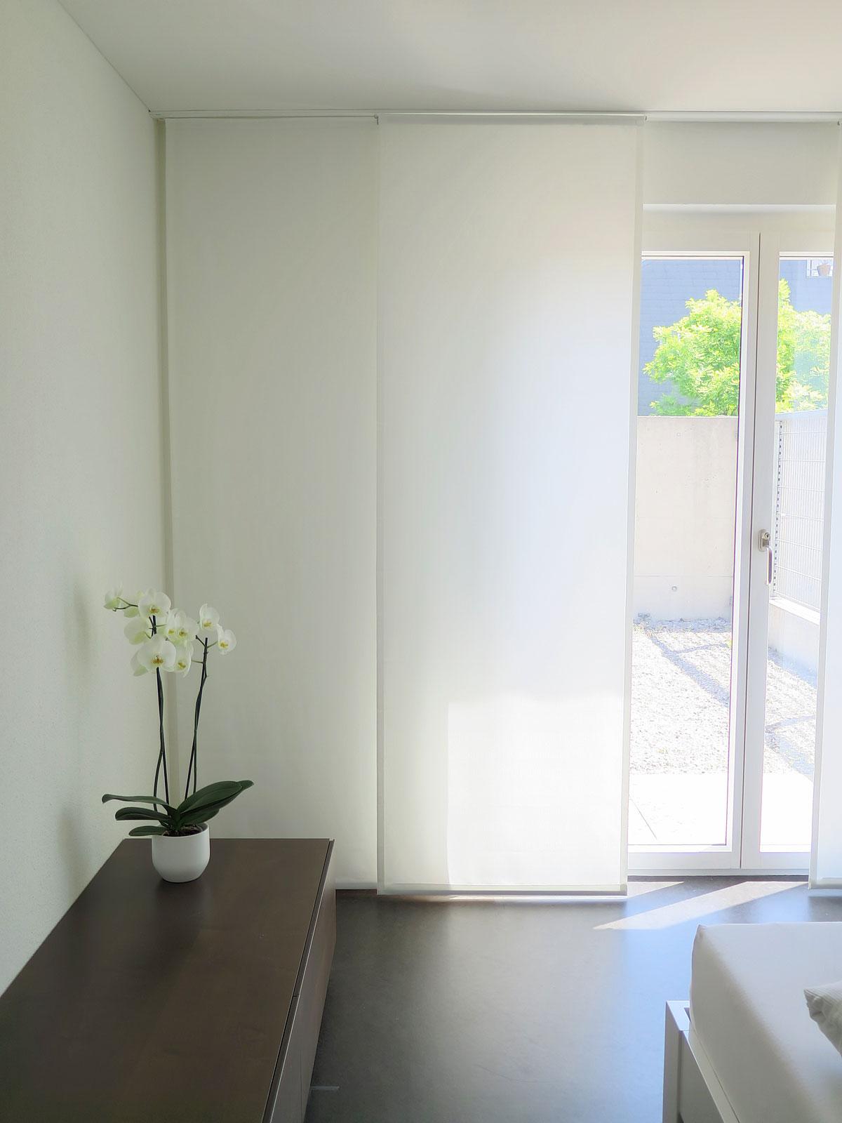 Flächenvorhang Sinus Blickdicht Lichtdurchlässig Wellengitter Weiss