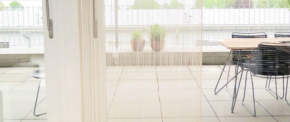 Moskito Vorhang Balkontür Im Wohnzimmer