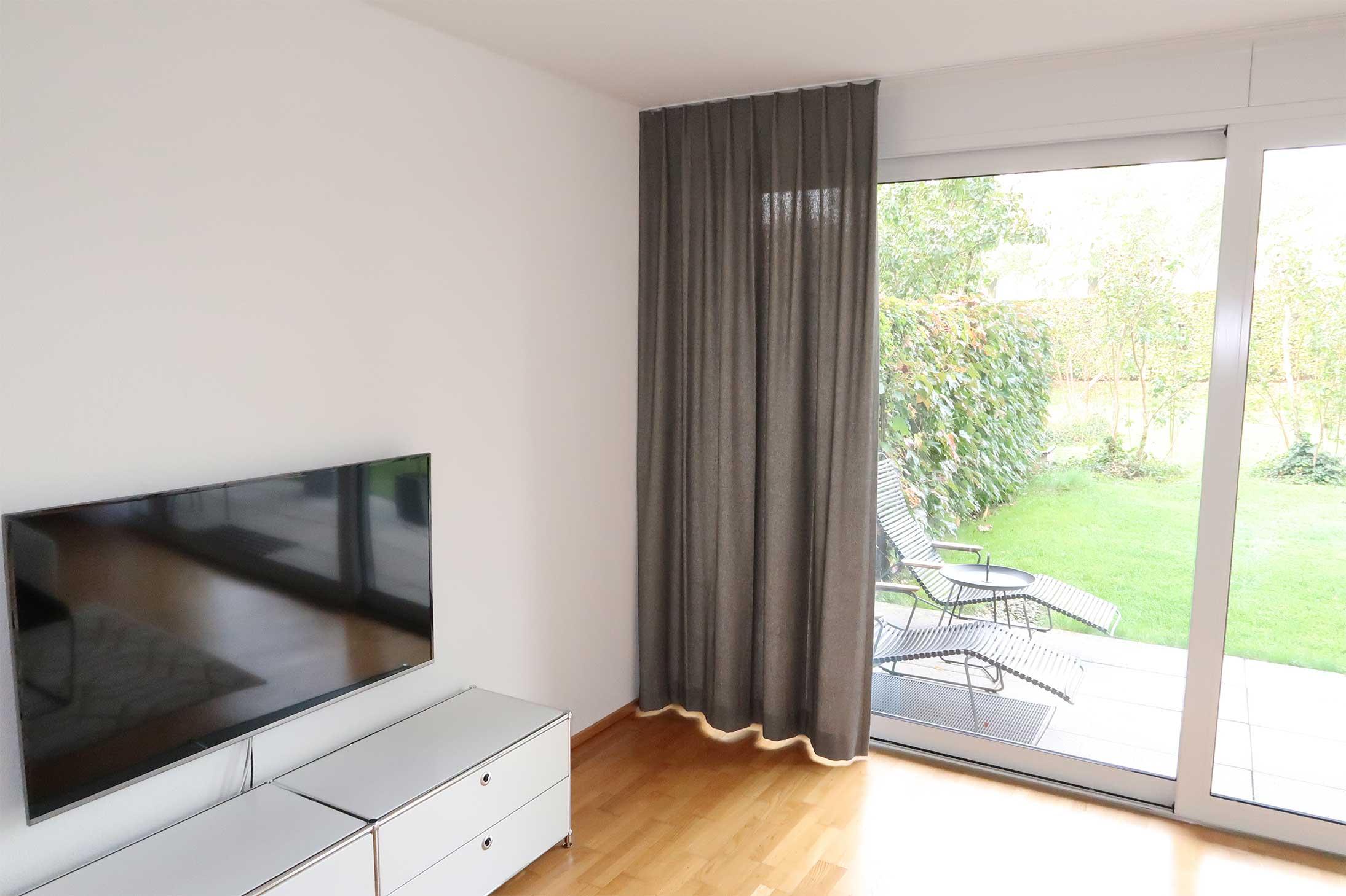 nachtvorhang amden schachbrett muster schwarz weiss baumwolle. Black Bedroom Furniture Sets. Home Design Ideas