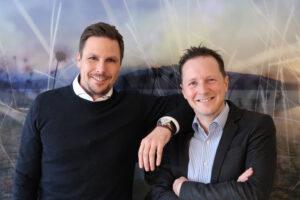 Gründer und Geschäftsführer vorhangbox.ch. Links: Simon Stöckli. Rechts: Stefan Erzinger