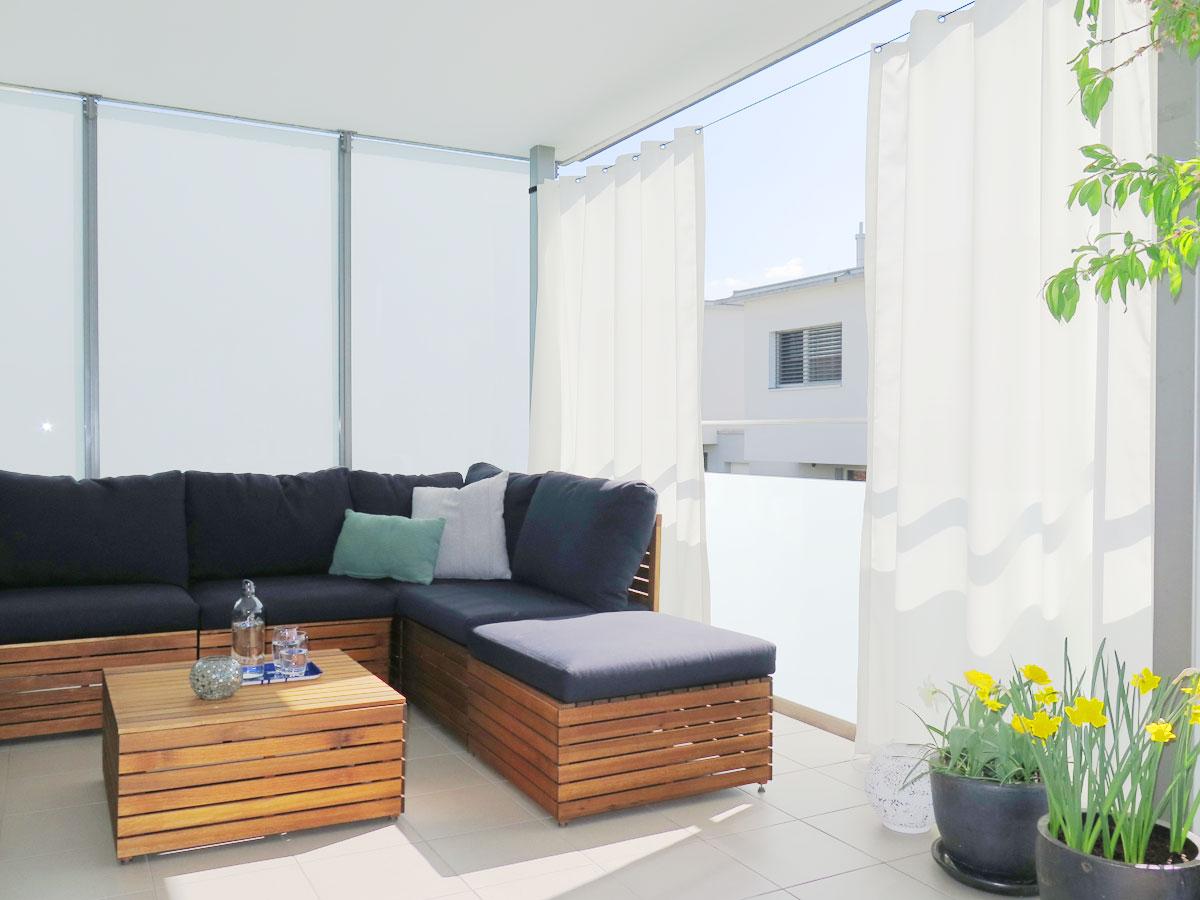 Outdoor Vorhang Santorini Nach Mass Fein Weiss Vorhangbox Ch